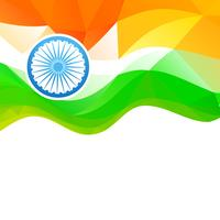 wave style indian flag