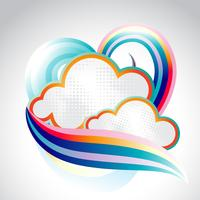 Abstract Cloud vector