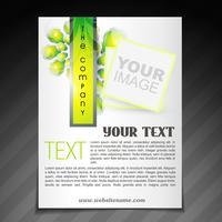 folleto de la empresa con estilo