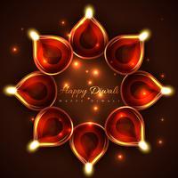 Glücklicher Diwali-Hintergrund