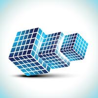 3d style cubes vector