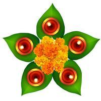 Fondo de vector de Diwali