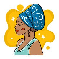 Belle illustration de femmes africaines