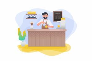 vector de barista