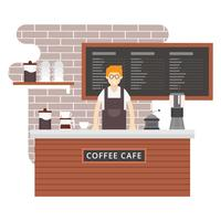 Illustration vectorielle Barista