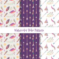 Lovely Boho Pattern Set vector