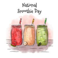 Smoothie Set Background To Natonal Smoothie Day