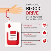 Blood Drive Infographic Vector