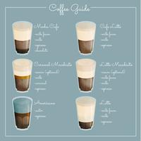 Vector Coffee Guide Illustration