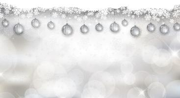 Fundo de Natal prateado