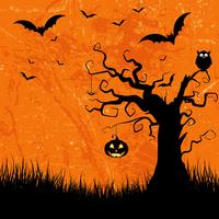 Grunge Halloween background  vector