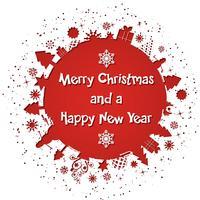 Fondo de navidad y año nuevo.