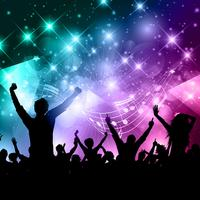 Party crowd vector