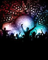 Party background with mirror ball vector
