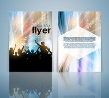 Double sided party flyer design