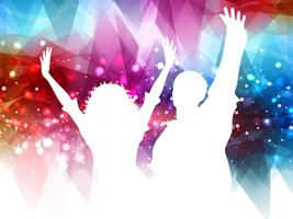 Abstract party people background vector
