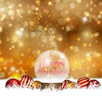Sneeuwbol op een Kerstmisachtergrond