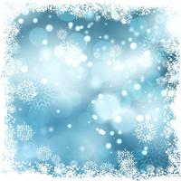Fond neigeux de Noël
