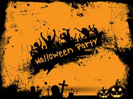 Grunge Halloween Party Hintergrund