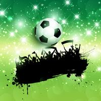 Grunge football or soccer crowd background vector