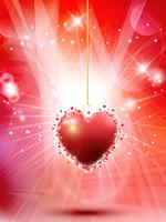 Dekorativa Valentines hjärta bakgrund