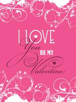 Be my Valentine background vector