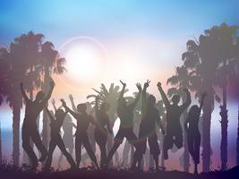 Fondo fiesta de verano