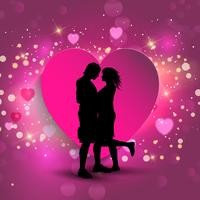 Couple on a heart background