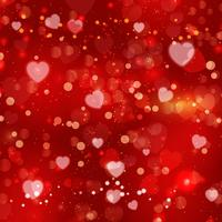 Red Valentine's day background vector