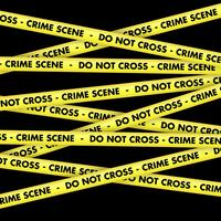 Crime scene tape background vector