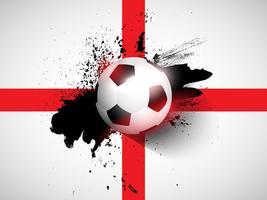 Grunge fotboll / fotboll bakgrund