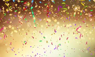 Confetti and streamers background vector