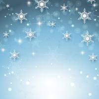 Kerst sneeuwvlok achtergrond