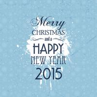 Grunge Christmas and New Year background vector