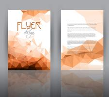 Low-Poly-Design für Flyer-Vorlage