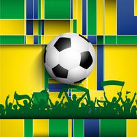 Football / soccer crowd background vector