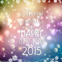 Fondo decorativo de navidad y año nuevo.