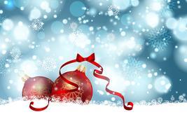 Baubles de Natal na neve