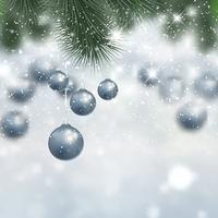 Fondo de adornos de Navidad