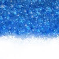Jul bakgrund med snöflingor