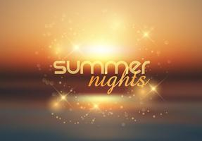 Summer nights background