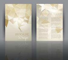 Flyer design with a low poly design