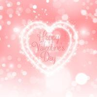 Día de San Valentín brillo corazón