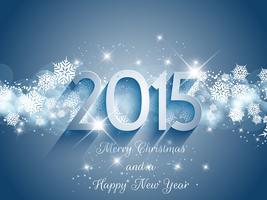 Natale e anno nuovo sfondo 0511