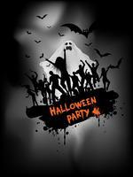 Grunge Halloween party bakgrund
