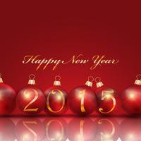 Feliz Ano Novo fundo bauble