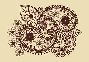 Indian Henna Art Vector
