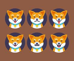 Dog Emotions Vector Set