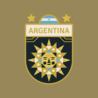 Argentina World Cup Soccer Badges