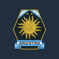 Argentina World Cup Soccer Badges  vector